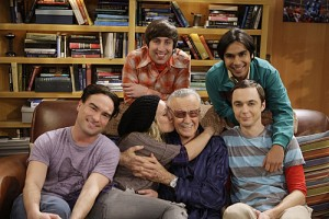 "Stan with the cast of ""The Big Bang Theory"""