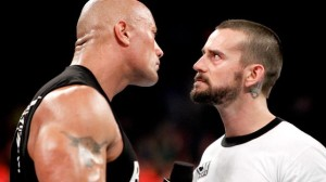 Rock and Punk faced off on RAW after Punk retained his title against Ryback in a TLC match. (With assistance from The Shield.)
